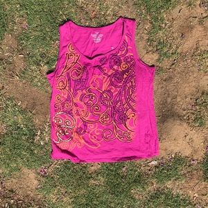 Faded glory pink tank top size XL